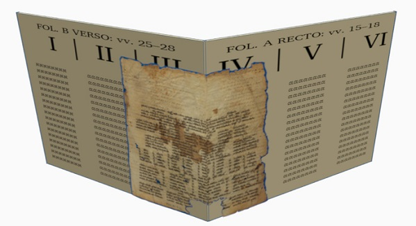 Hexapla with Genizah manscript overlay back