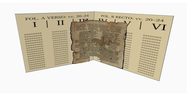 Hexapla with Genizah manuscript overlay front