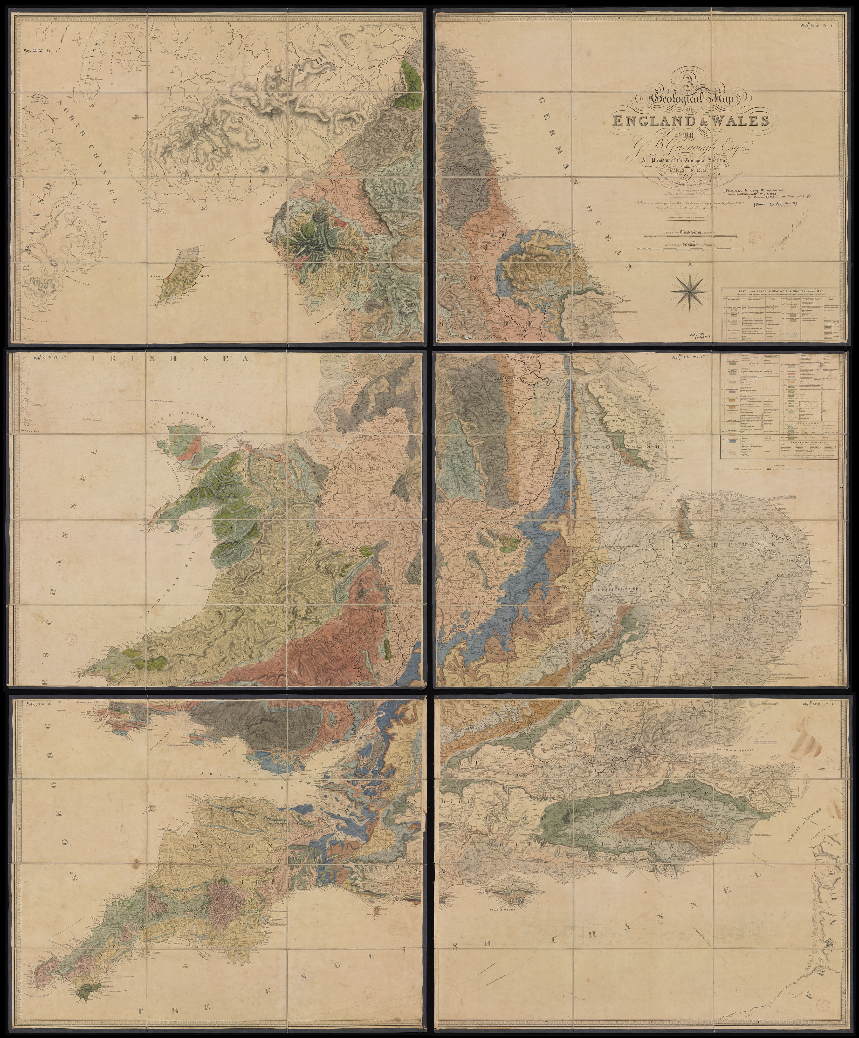 A Geological Map of England and Wales