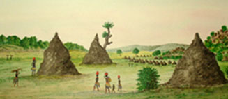 Giant ant hills in Bechuanaland, 1868 by A.A. Anderson (RCMS 191.62)