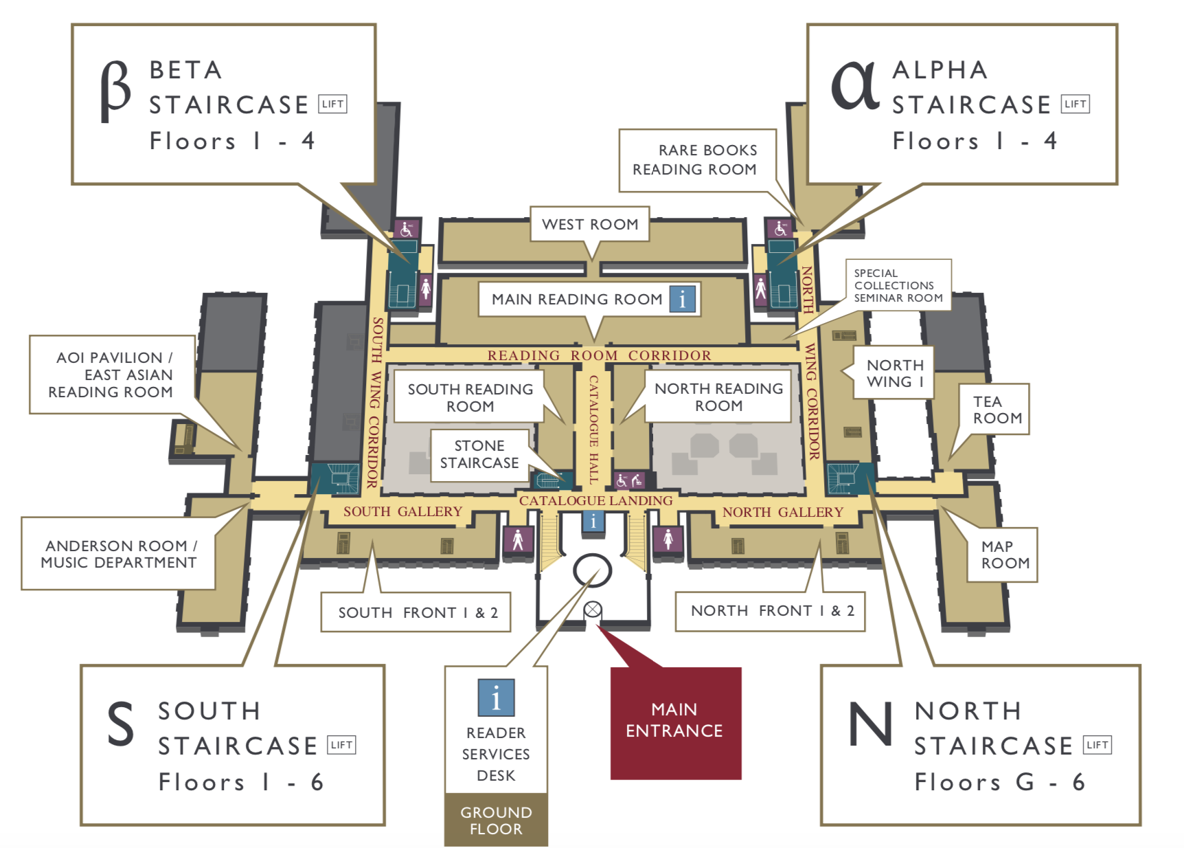 Floorplan Cambridge University Library