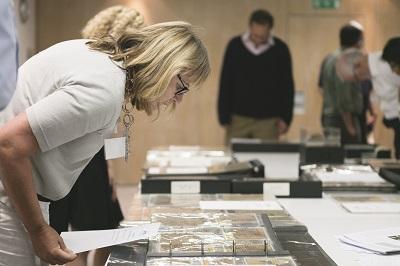 unconserved manuscript on display