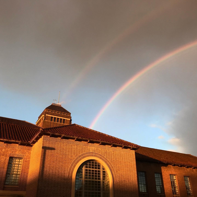 Double rainbow over the UL Tower