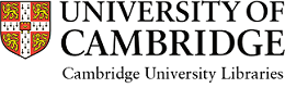 Logo of Cambridge University Libraries: University crest next to text University of Cambridge, Cambridge University Libraries